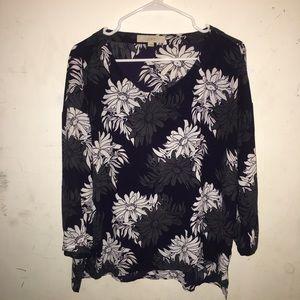 LOFT Ann Taylor floral blouse